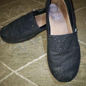 Toms black glitter  5.5Y